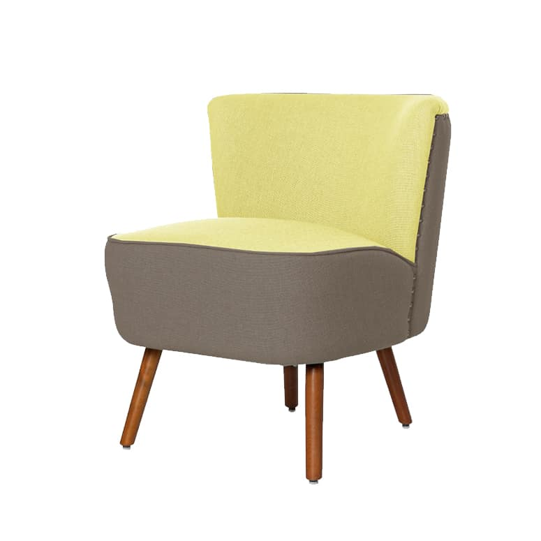 70's Chair Grey + Yellow