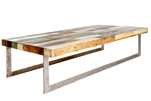 RECLAIMED Metal Plank Coffee Table