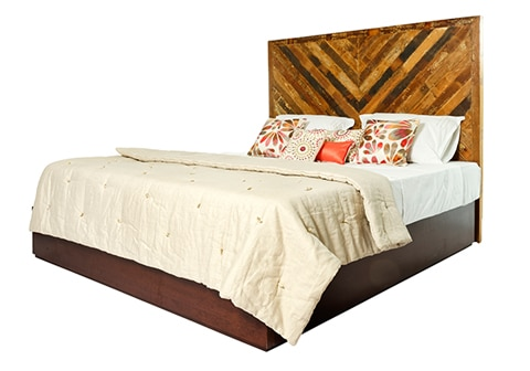 RECLAIMED HERRINGBONE Headboard