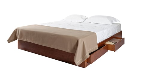 WOODEN Bed Base with Drawers
