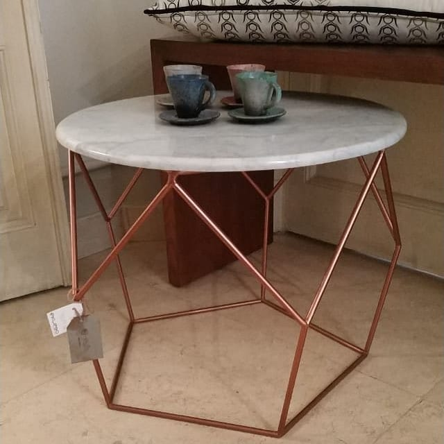 Marble Pentagon Base Tables