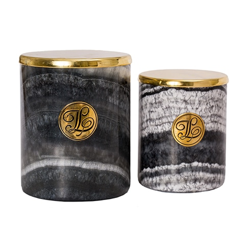 GREY Marble Candle