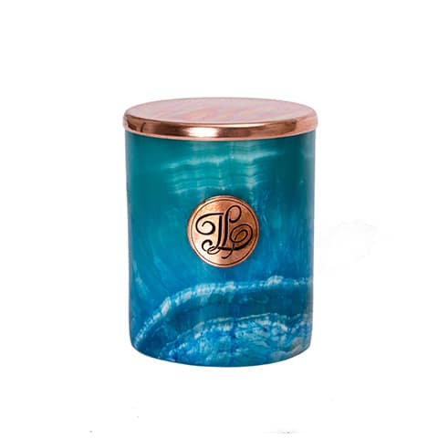TURQUOISE Marble Candle