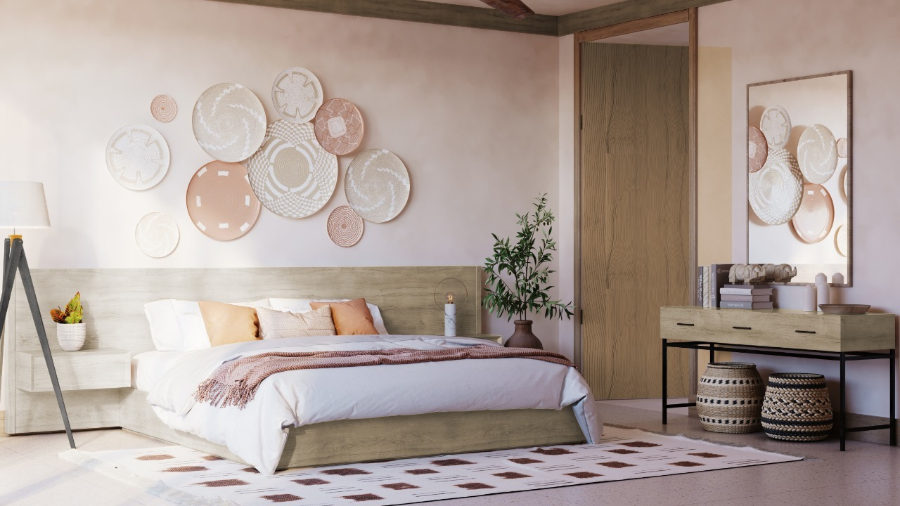 SOKHNA Headboard with Floating Tables