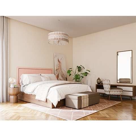 BASIC Headboard with wooden bed base