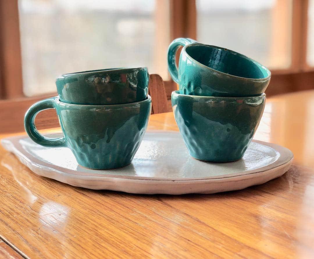 Carved Cup Set