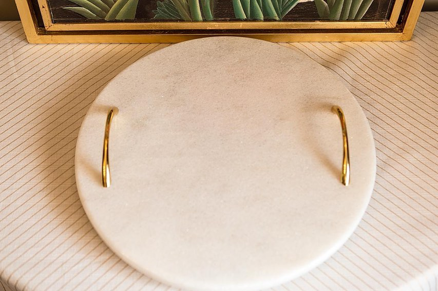 Marble Handle Tray