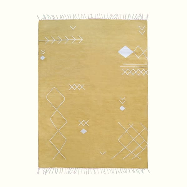 Yellow Scattered Stitch