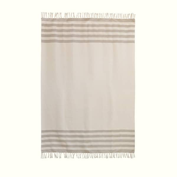 Beige Stripes Throw