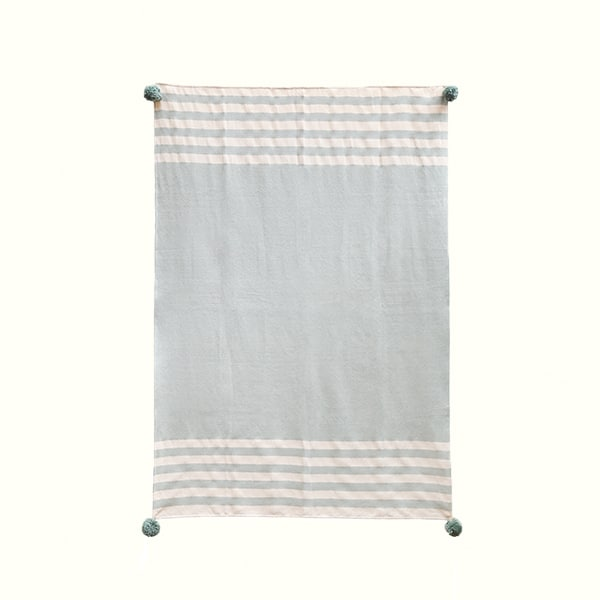 Mint Stripes Throw Sale