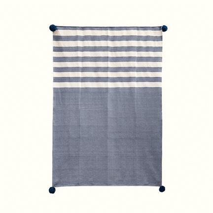Navy Stripes Throw