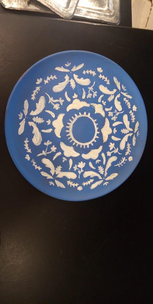 Hanging Blue Pattern Plates