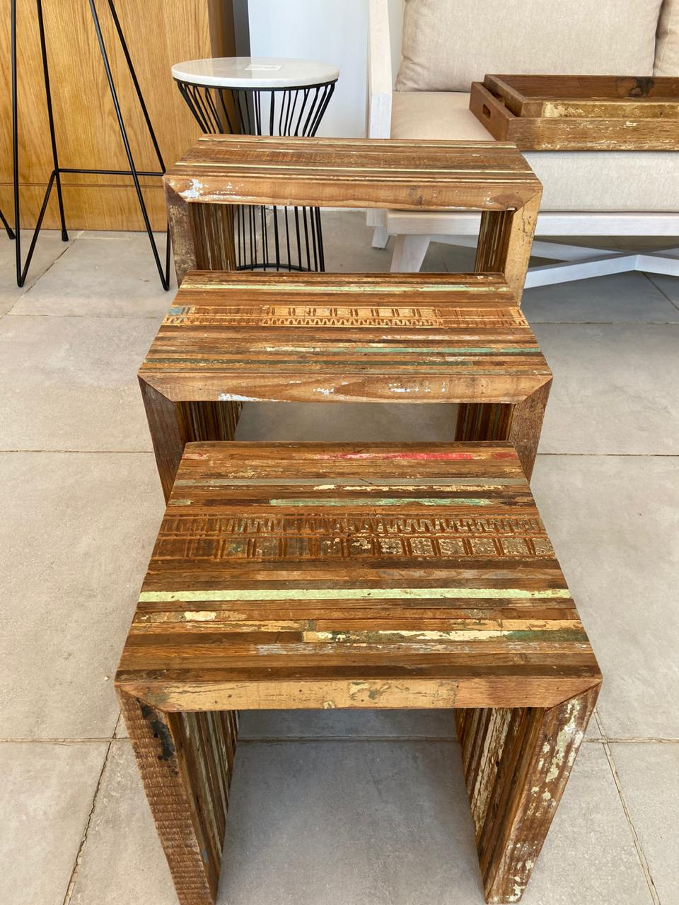 Reclaimed Side Tables set