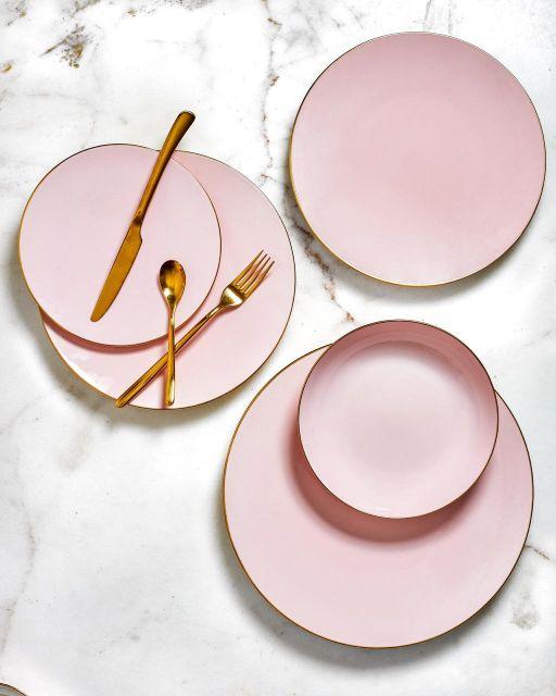 So pink tableware