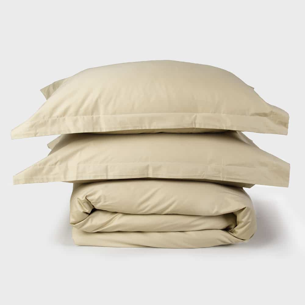 Light Beige Sateen Duvet Set