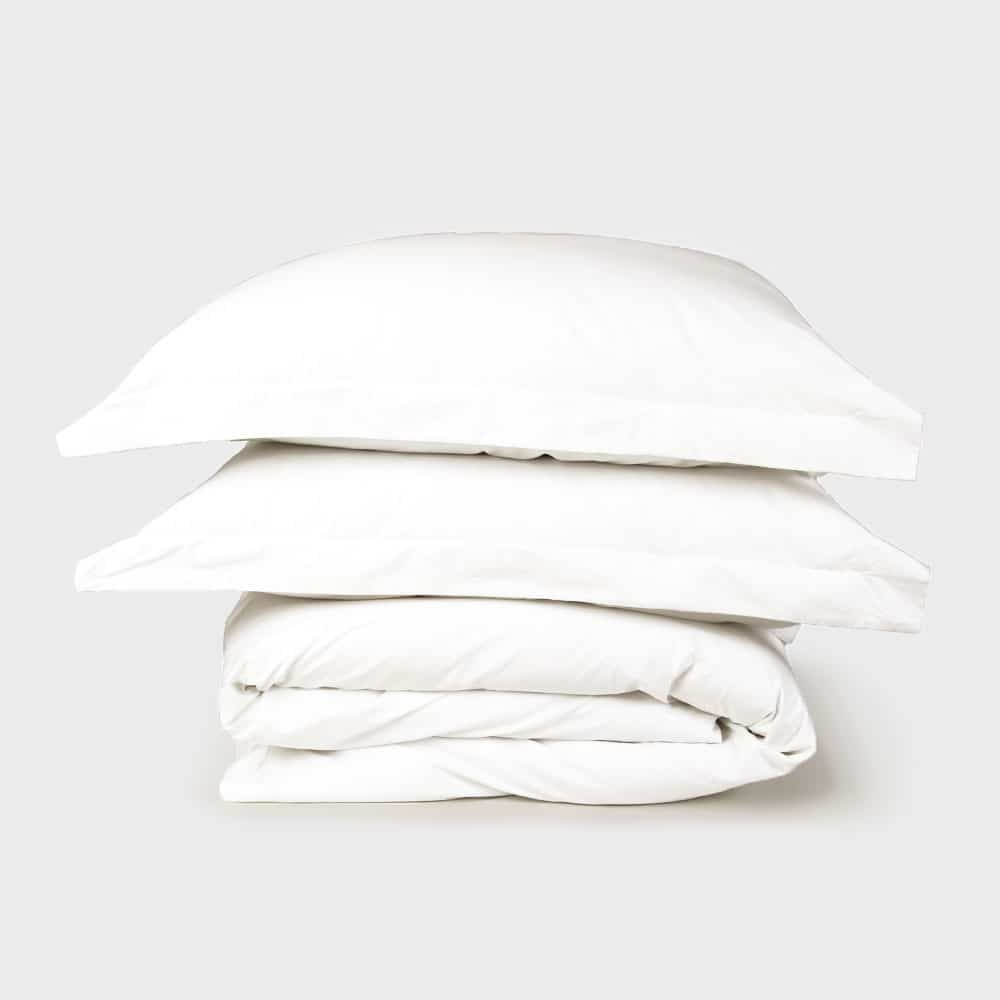 Pure White Sateen Duvet Set