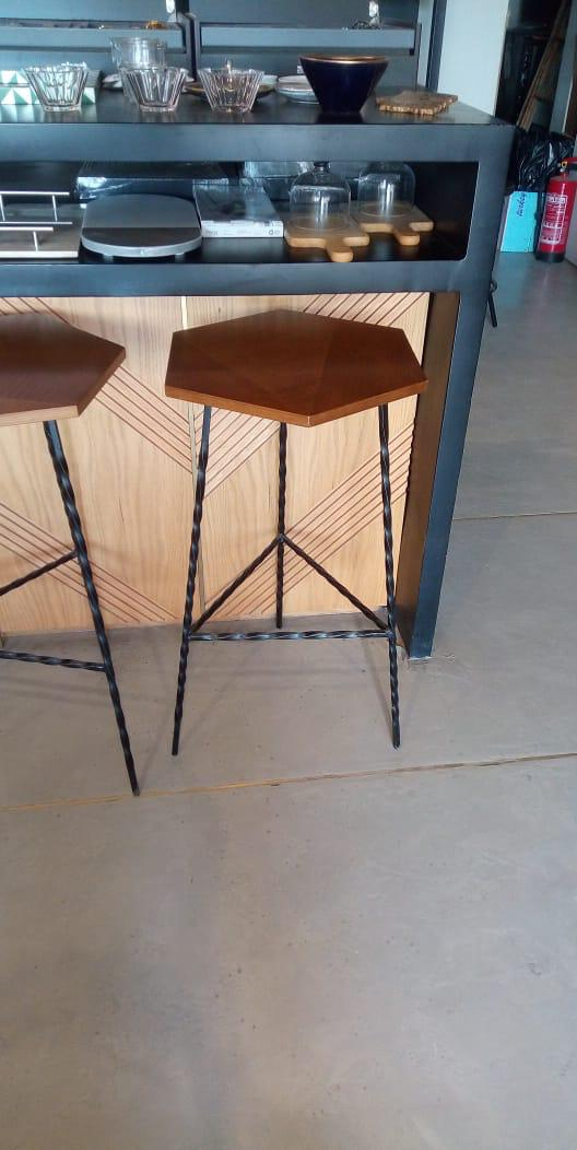 Hexagon Bar Stool