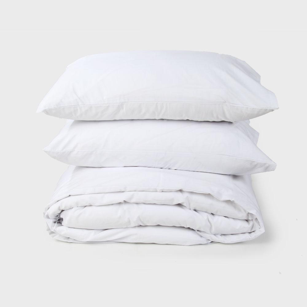 White Percale Duvet Set